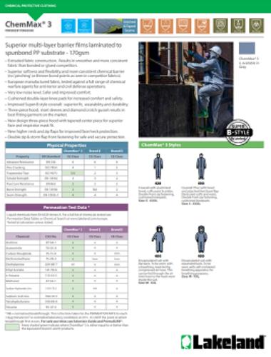 CA CE Chem Max3 Data Sheet