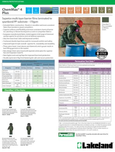 CA CE Chem Max4 Plus Data Sheet