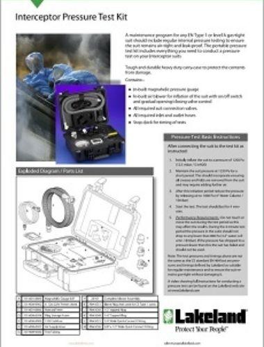 Pressure Test Kit Data Sheet Thumbnail