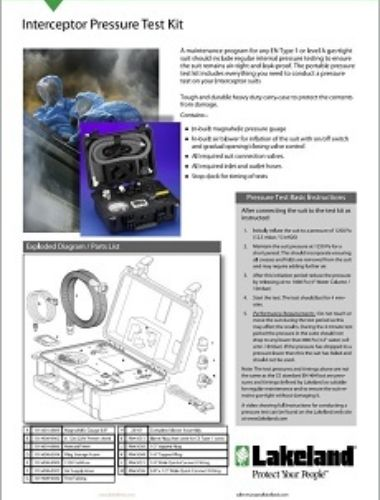 Pressure Test Kit Data Sheet Thumbnail