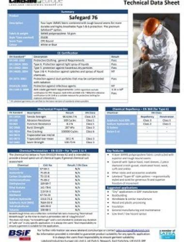 Safegard 76 Tech Data Sheet Thumbnail