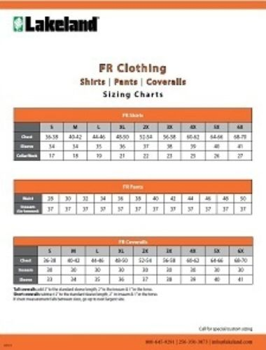 Fr Clothing Size Thumbnail