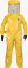 ChemMax® 4 Coverall-400 Level B, Encapsulated Suit, rear entry, flat back, attached gloves - C4 T400 Y front lo