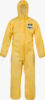 ChemMax® 1 EB Coverall with single zip & storm flap and elasticated hood, cuffs, waist & ankles and thumb loops - EB